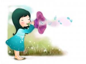 98120_dziecko_kielich_kwiatka_muzyka